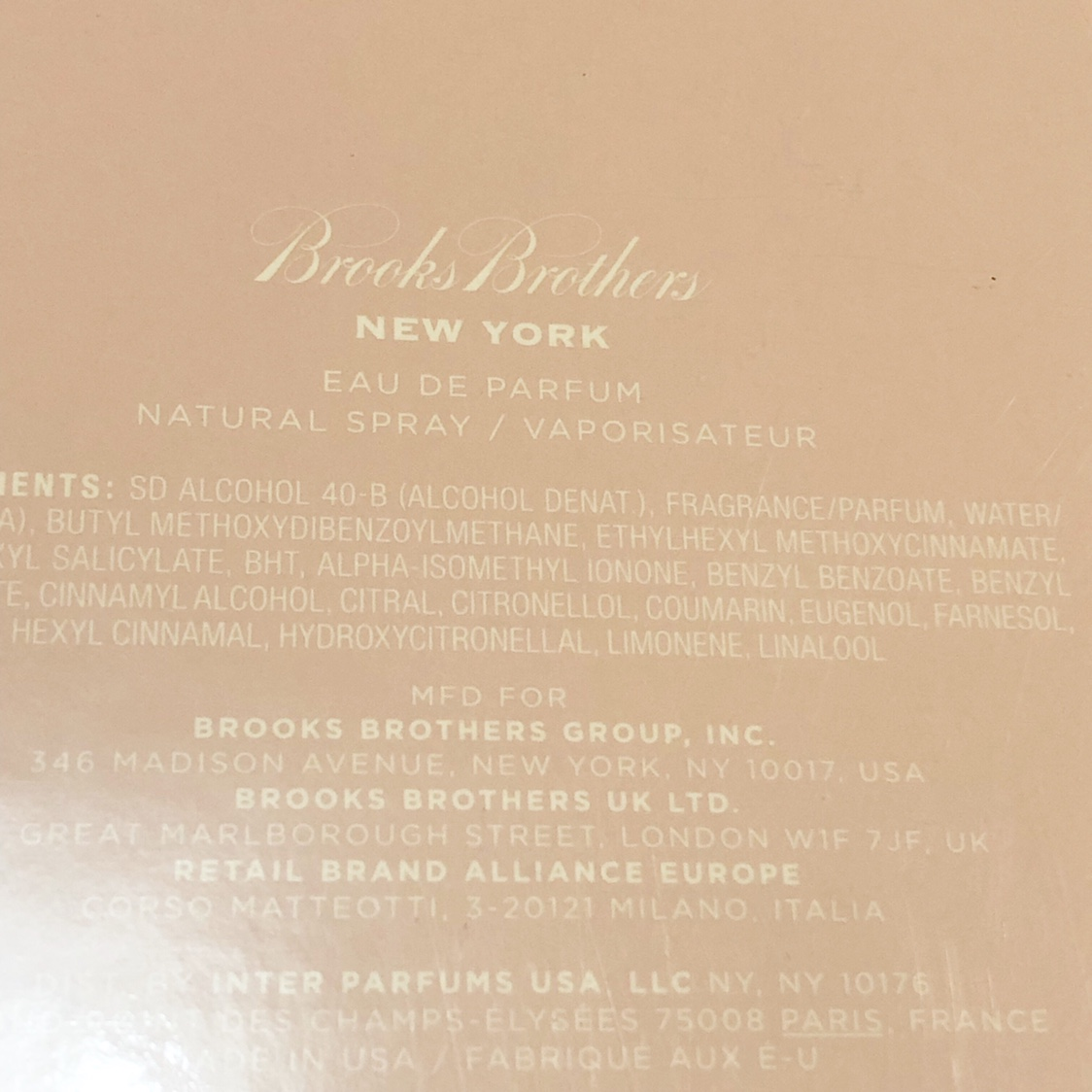 low cost best sell presenting Brooks Brothers New York Perfume new in box 3.4 FL... - Depop