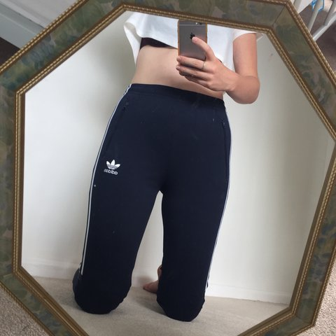 7d58d44685a0aa @chloegifford. 10 months ago. Basingstoke, United Kingdom. Adidas Navy  tracksuit bottoms. Zipped pockets. Boys 12-13 years but fits a woman's size  ...