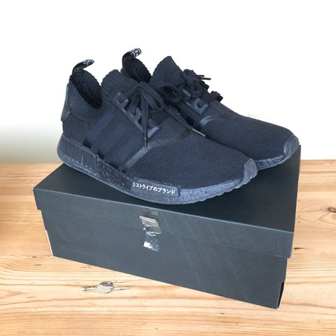 44df036a5 Adidas NMD Triple Black Japan Boost size UK11➖Worn just once - Depop