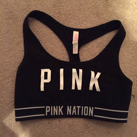 b41aa7a5b7b30 Size small limited edition pink nation sports bra from vs  ) - Depop