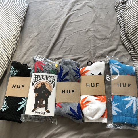 f139cf124a A selection of genuine HUF socks. 5 brand new pairs. One dog - Depop
