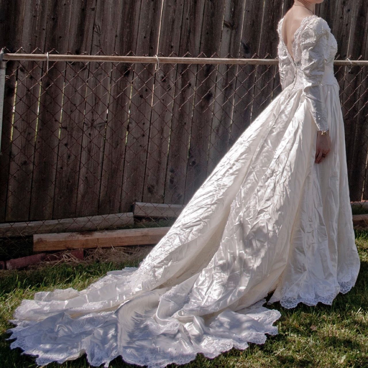 80s Wedding Dress.This Vintage 80s Wedding Dress Is An Example Of Depop