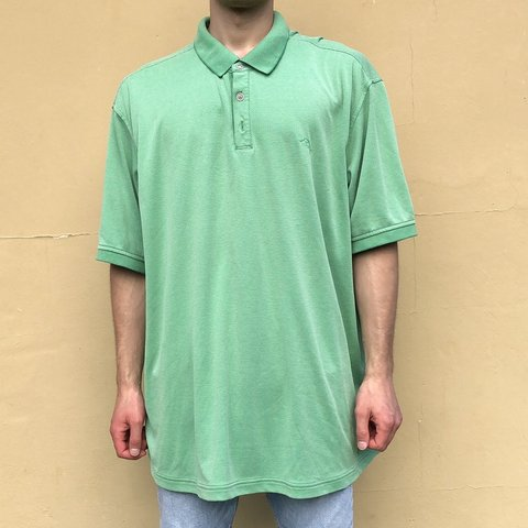 fb9c76b0 @almari_vintage. 23 hours ago. Miami, United States. Check out this vintage Tommy  Bahama green polo shirt, size men's XXL. It is in good shape ...
