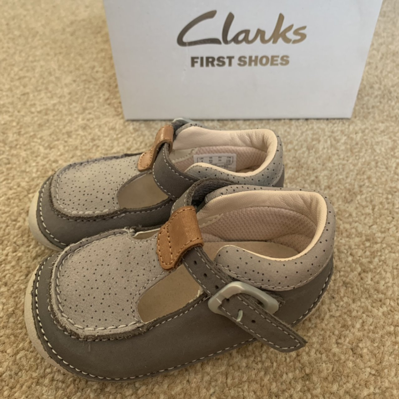 cutest little baby Clarks shoes size