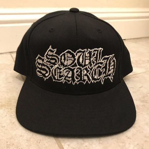 81e0f727 Soul Search SnapBack hat (black hat, white out all my other - Depop