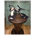 "7191d20457d Steve Madden Stacy heels in ""Pewter"". Super cute dark chrome - Depop"