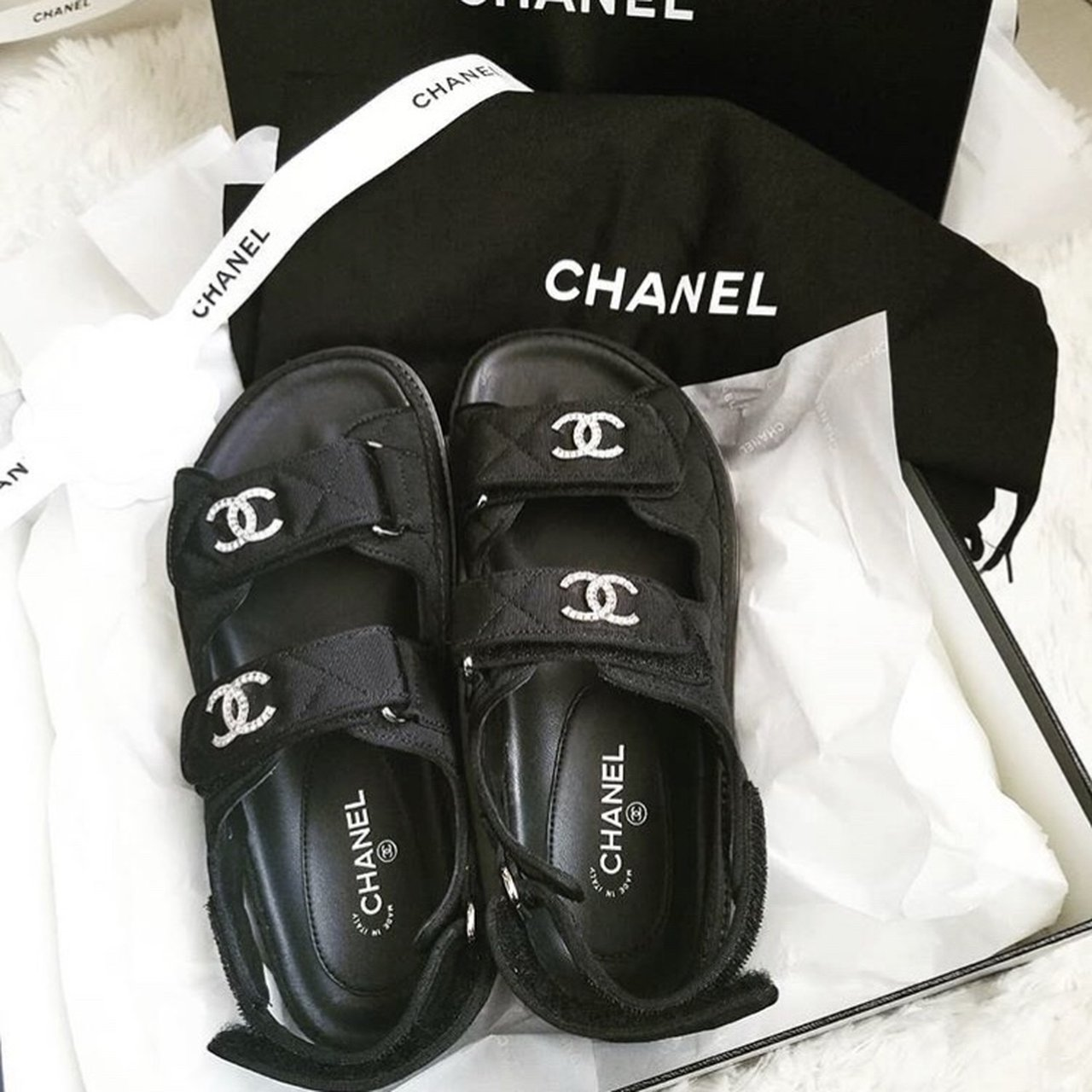 Chanel Sandal From The 2019 Collection Comes Brand Depop