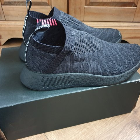 005f58f3a Adidas NMD CS2 triple black. Size UK 8 Worn once and in In - Depop