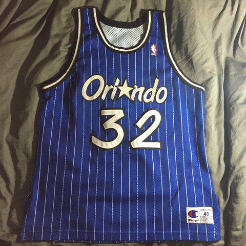 5b19302c417 Vintage Champion Shaquille O neal Orlando Magic jersey