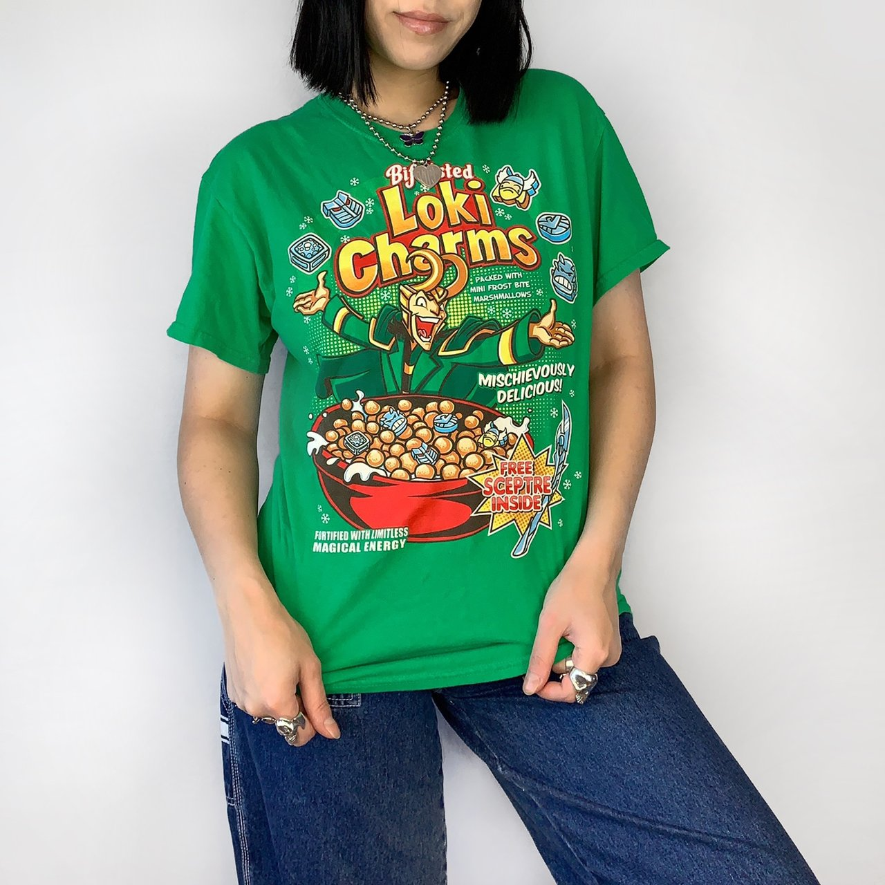6ce62e212d8 Bifrosted Loki Charms tee
