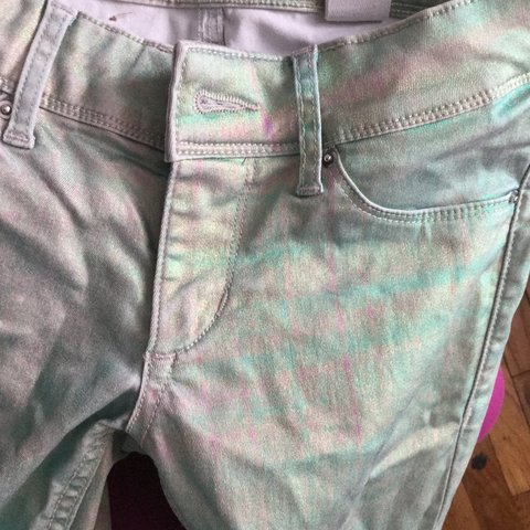 e297199a40308 @makeshiftminds. 3 years ago. New York, NY, USA. Holographic disco pants  from H&M.