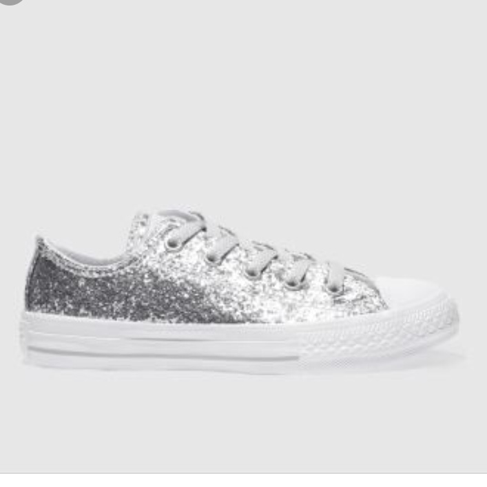 pretty cheap sale reasonable price silver converse like shoes size 6 never worn, good... - Depop