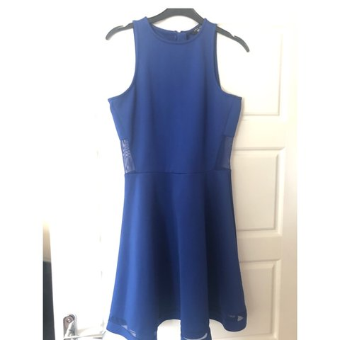 97c6d535f00 Beautiful blue dress with mesh detail. Worn once for an for - Depop