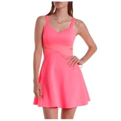 ab04a1ecf1 Charlotte Russe Hot Pink Short Dress Size XSmall Price can - Depop
