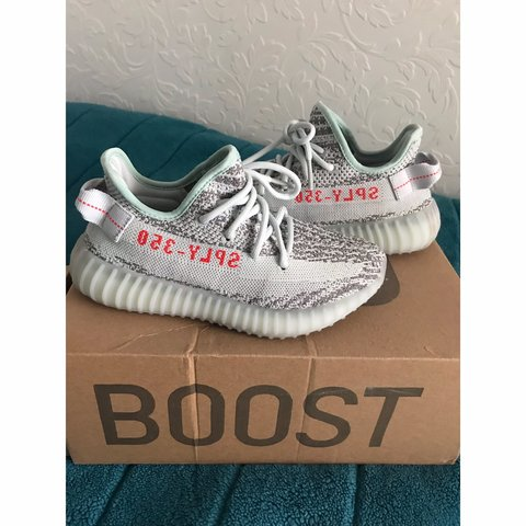 8d8490de67f9e Adidas Yeezy 350 v2 Blue Tint. Starting price £100 but open - Depop