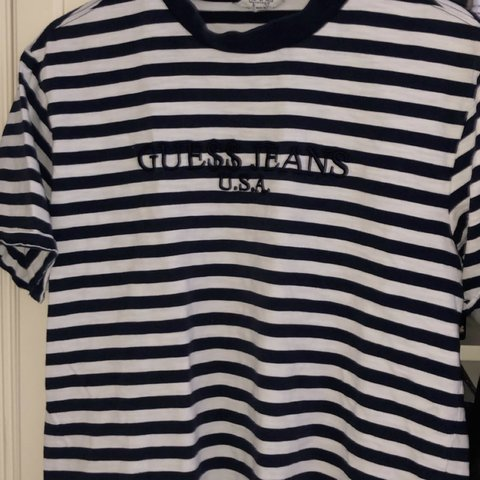 7a8e118ec583 @adam_pluggy. last month. Helsinki, Suomi. Selling Asap rocky X guess // DARK  BLUE AND WHITE STRIPED SHIRT//