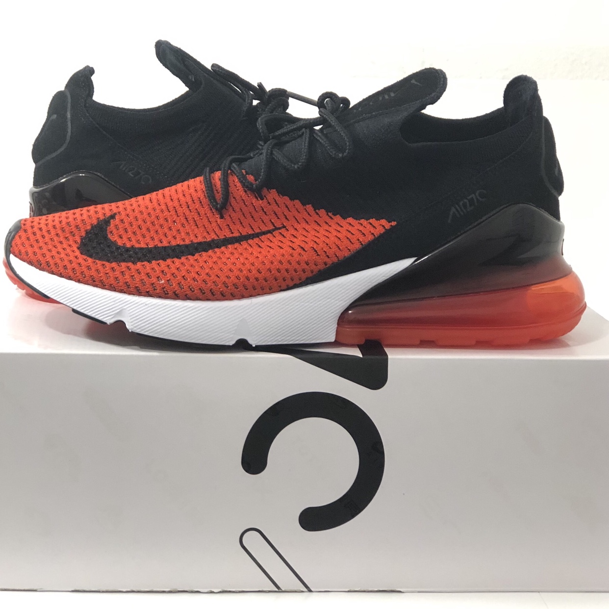on sale 3ae59 ac914 Men's air max 270 Flyknit black/ red brand new in... - Depop