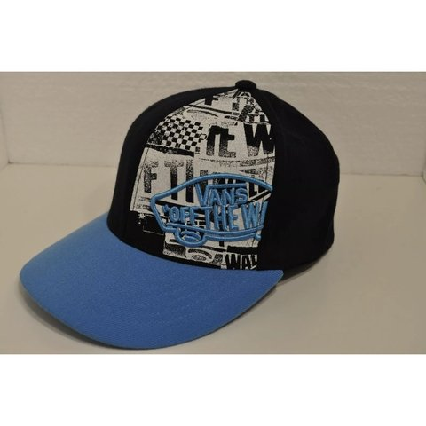 dd4a23ee692 Rare Vans Off The Wall Sample Hat Snapback Black and Blue is - Depop