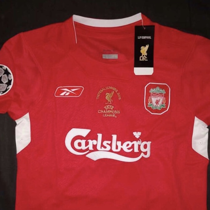 los angeles 79664 fcf00 2005 Liverpool home kit ucl edition - Depop