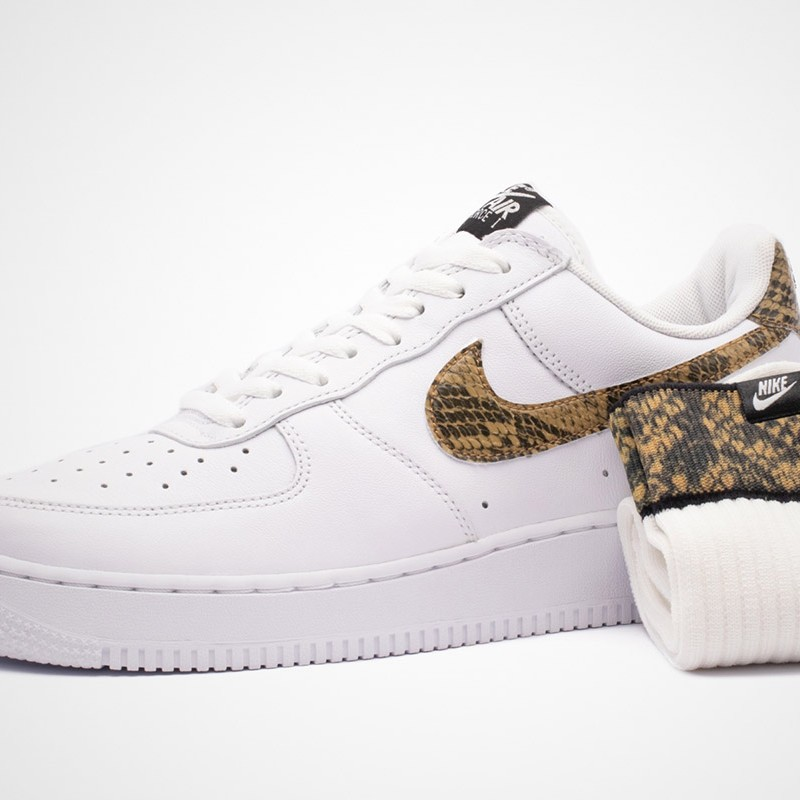Nike air force 1 ivory snake with