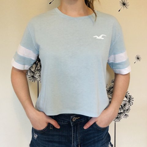 34be8897 @mollyclemens. 2 days ago. Lake Mary, United States. super soft light blue  hollister tee! ...