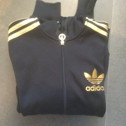 adidas jumper black and gold