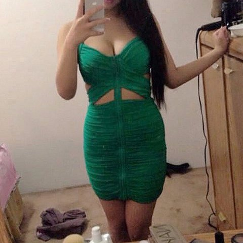 ad00c8bcc7 @annnielo. 2 months ago. Vancouver, Canada. Bebe green ruched cut out dress