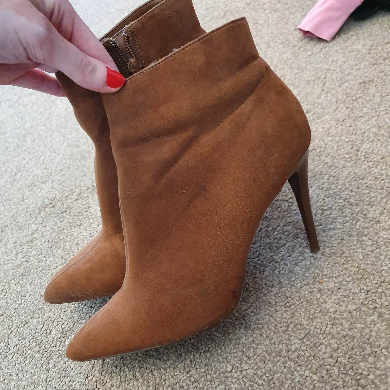 New Look brown heeled ankle boots size