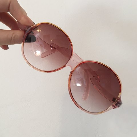 ad7c26b4da8cb Retro-inspired rose colored sunglasses. The large circular a - Depop