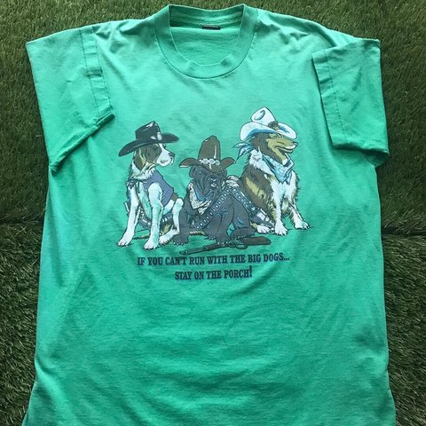 fbff3044 Single Stitch Vintage Tee Big Dogs Only Depop