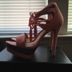 d21a537e69ba justfab pink heels. Size 11 run tight on the toes. - Depop