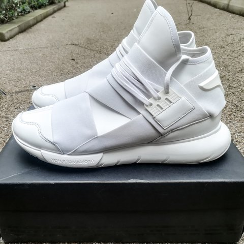 539782e17eda6 Adidas x Y-3 Qasa High in Triple White 👟 Labelled they fit - Depop