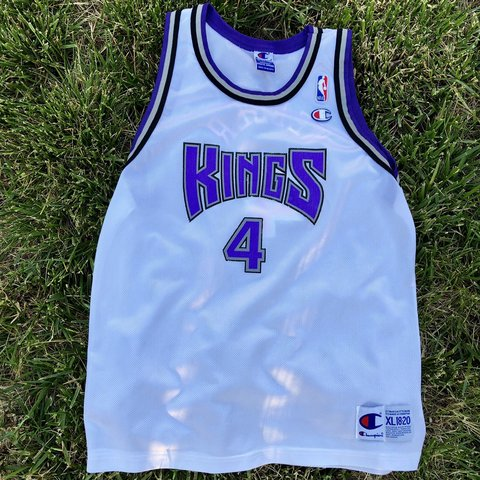 51ed8621cff6 Chris Webber Vintage Champion NBA Sacramento Kings Jersey. a - Depop