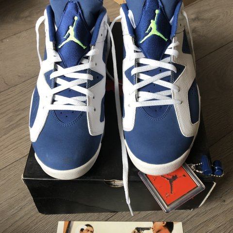 e66b610d099 @soyeezy. in 21 hours. Carshalton, United Kingdom. Air Jordan 6 retro low  Seahawks. White/ghost green insgn blue