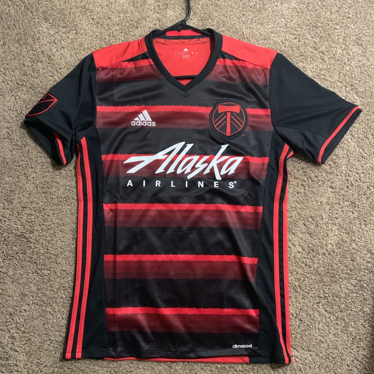 2d0c21260 @wokenstar. 2 days ago. Perris, United States. Adidas Soccer Jersey Red/ black colorway