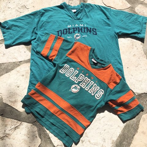 Nice vintage miami dolphins shirts available. kids shirt sz m sz Depop  for cheap nXDu4Qnz
