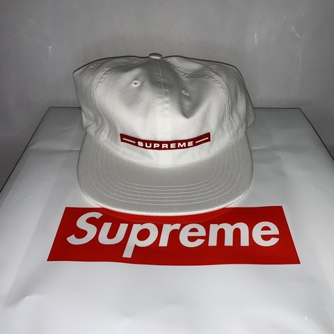 836cc102 @noahtogans. 3 days ago. Los Angeles, United States. Supreme Raised Logo 6- Panel Hat - White One size