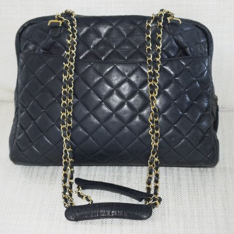 64d8a7bc51e6 @creamboutique. last month. Richmond, Canada. AUTHENTIC CHANEL LAMBSKIN  QUILTED SHOULDER BAG