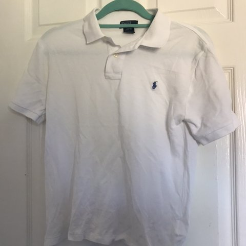 60467036d @debhodgsonxo. last month. Northwich, United Kingdom. White Polo Ralph  Lauren Polo shirt☁ 💫Embroidered Baby Blue ...