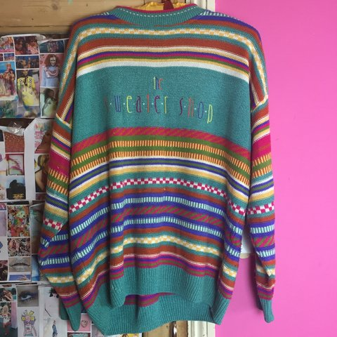 bc937c01b Fabulous vintage 90s the sweater shop rainbow oversized 🌈 a - Depop
