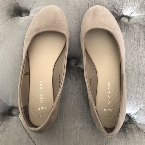 55683f54ab7acd New look Nude ballerina pumps Size 4 widefit Still in good - Depop