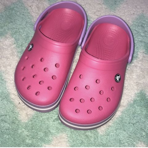 2a53c1586 Pink lavender crocs. Worn once. No sign of any wear at all. - Depop