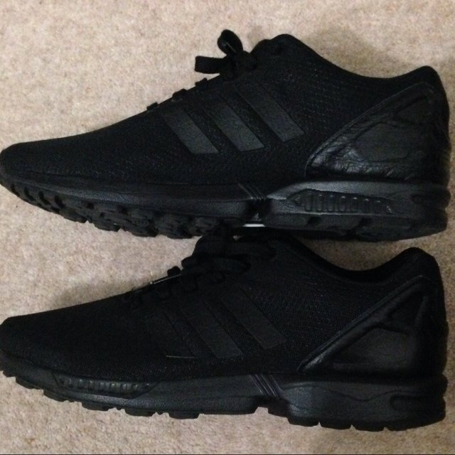 new style 0a3ea 4e840 adidas zx flux all black