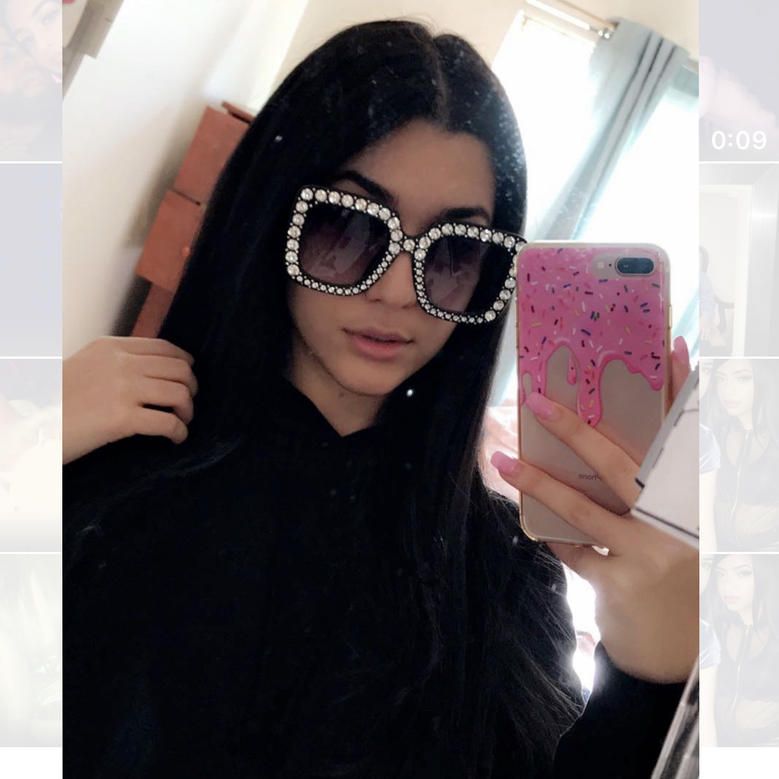 37a55d4b26 BIG BLACK JEWELED SUNGLASSES💎🖤🖤perfect for this summer!!! - Depop