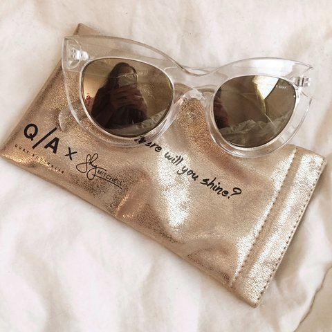 58c3c906a43d9  mimilly. 3 years ago. United Kingdom. Quay Australia X Shay Mitchell  Collaboration Sunglasses in the style Jinx Clear. Gorgeous clear frame cat  eye ...