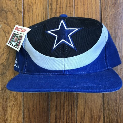 a7178cd053d03 Vintage 90s Deadstock Dallas Cowboys NFL Snapback Hat Hat - - Depop