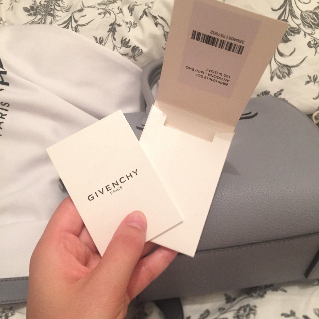 GIVENCHY MINI ANTIGONA IN PALE GREY. Used once. excellent - Depop 6e8c15605b368
