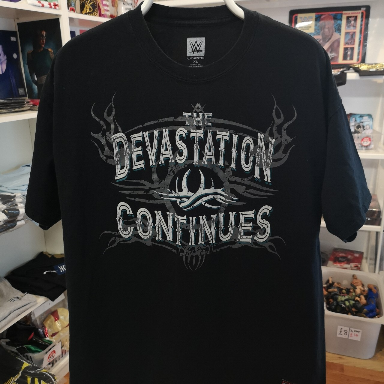 """Goldberg /""""Devastation Continues/"""" Authentic T-Shirt Official WWE"""