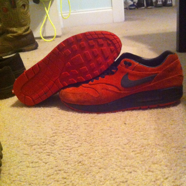 finest selection f20d4 b713b  b ray. 5 years ago. Dallas, United States. Nike air max 1 premium pimento.