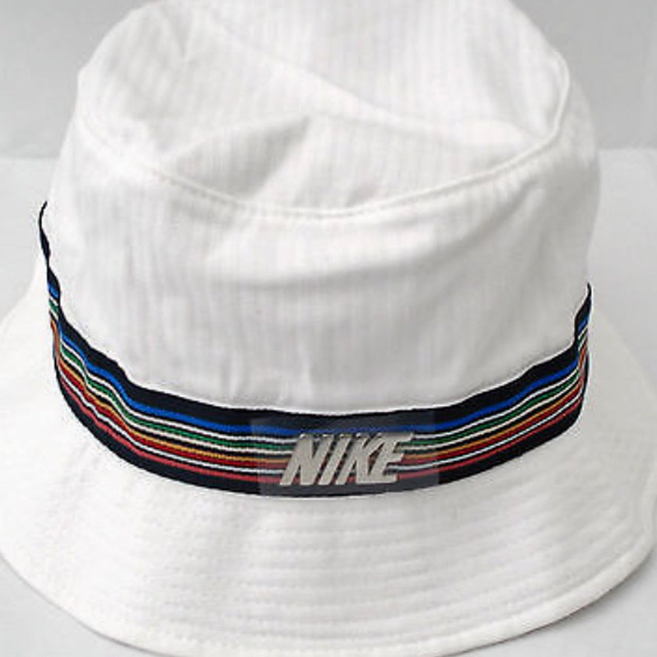 WHITE NIKE Y2K bucket hat with rainbow detailing embroidery - Depop 06699286813